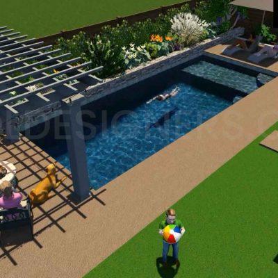 3D Pool Design, Pool Designs, 3D Swimming Pool Design, 3D Inground Pool Design, Buy Pool Designs, Pool Studio Design, Pool Studio 3D Designs for Sale