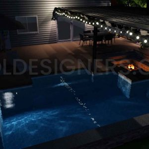 3D Pool Design, Pool Designs, 3D Swimming Pool Design, 3D Inground Pool Design, Buy Pool Designs, Pool Studio Design, Pool Studio 3D Designs for Sale