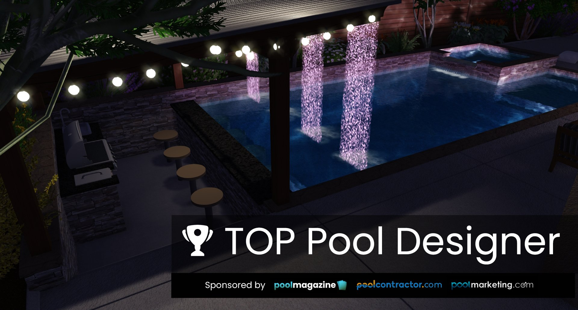 Top Pool Designer - Submit Your Entry for TOP Pool Designer Award - Hosted by PoolDesigners.com and sponsored by Pool Magazine, Pool Contractor and Pool Marketing